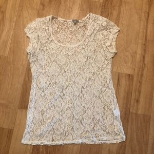 Charlotte Russe Tops - Ivory lace top